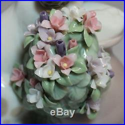 Lladro Figurine, 6574 Take Me Home (dog w flowers), 4.2H $465 V