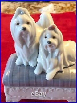 Lladro Figurine 6688 Looking Pretty, Mint, Retired, Maltese Dog