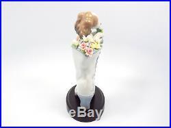 Lladro Figurine #6744 Well Heeled Dog in Boot, 8 1/2
