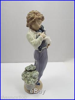 Lladro Figurine #7609 My Buddy Boy With Dog