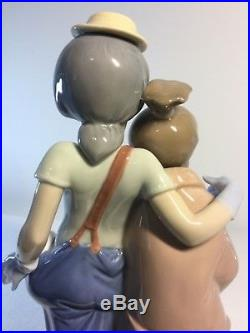 Lladro Figurine 7686 Pals Forever, Mint, Retired, Clown, Dogs, Friend (A)