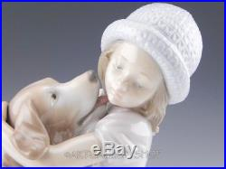 Lladro Figurine A WARM WELCOME GIRL WITH DOG #6903 Retired Mint BOX