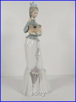 Lladro Figurine A Walk With Dog Model No. 4893, Appr. 37cm Tall