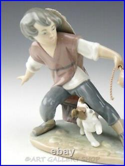 Lladro Figurine BOY WITH STUBBORN DONKEY AND DOG 5178 Retired Mint