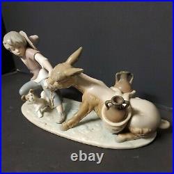 Lladro Figurine BOY WITH STUBBORN DONKEY AND DOG Retired