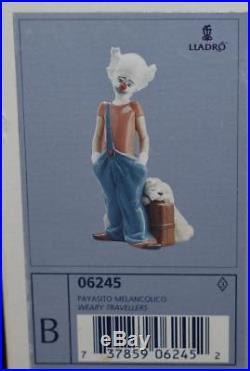 Lladro Figurine DESTINATION BIG TOP Clown& Dog #6245- Ret 1996 J Huerta- MIB