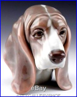 Lladro Figurine DOG'S HEAD BEAGLE BASSET #1149 Retired Rare