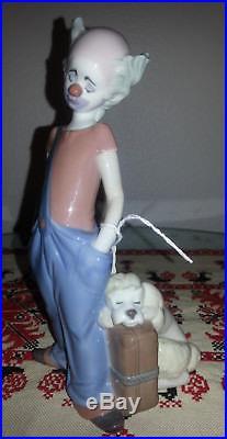 Lladro Figurine Destination Big Top Clown with a dog #6245 with original box