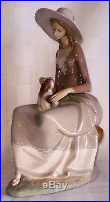 Lladro Figurine Girl With Dog (spain)