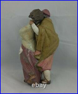 Lladro Figurine Gres Facing the Wind Boy, Girl & Dog Model No. 1279