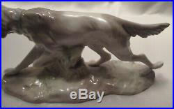 Lladro Figurine Hunting Dog With Quail #308.13 Issued 1963, Retired, Early/Rare