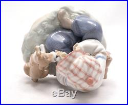 Lladro Figurine I Hope She Does Boy Dog Love #5450