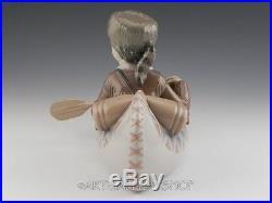 Lladro Figurine LITTLE EXPLORER BOY IN CANOE WITH DOG #6640 Retired Mint BOX