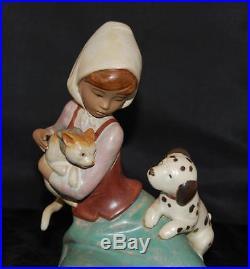 Lladro Figurine LITTLE FRISKIES #12266 /5032 Dog & Cat-Ret 1997-RARE GRES -MIB