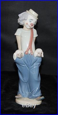 Lladro Figurine LITTLE PALS #7600-Clown with Dogs -LCS Ret 1985 J Huerta- MIB