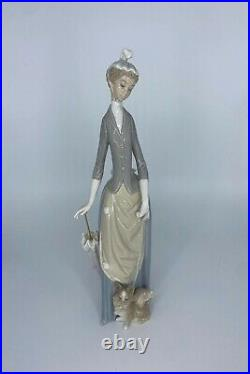 Lladro Figurine- Lady With Dog- #4761 With Original Box