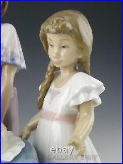 Lladro Figurine MAKING A WISH GIRLS WITH BIRTHDAY CAKE & DOG #5910 Retired Mint