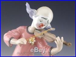 Lladro Figurine MUSIC FOR A DREAM CLOWN WITH VIOLIN GIRL DOG #6900 Retired Mint