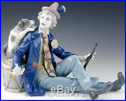 Lladro Figurine MUSICAL PARTNERS CLOWN WITH DOG & CLARINET #5763 Retired Mint