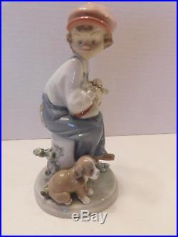 Lladro Figurine- My Best Friend-#5401-Boy With Dog-Glazed- Spain