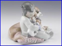 Lladro Figurine NEW PLAYMATES BOY WITH DOG & PUPPIES #5456 Retired Mint BOX