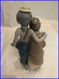 Lladro Figurine PALS FOREVER CLOWN GIRL & PUPPIES DOGS #7686 Retired Mint