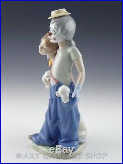 Lladro Figurine PALS FOREVER CLOWN GIRL & PUPPIES DOGS #7686 Retired Mint Box