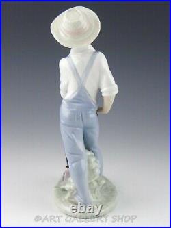 Lladro Figurine SATURDAY'S CHILD BOY WITH DOG #6021 Retired Mint Box