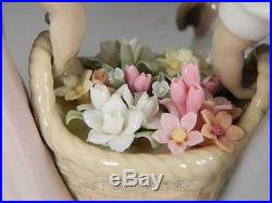 Lladro Figurine SPRINGTIME HARVEST GIRLS WITH FLOWERS & DOG #6250 Retired Rare