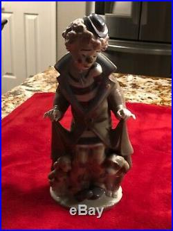 Lladro Figurine SURPRISE CLOWN with DOG & PUPPIES #5901 Retired Mint