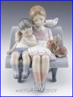 Lladro Figurine SURROUNDED BY LOVE CHILDREN With DOG BENCH #6446 Retired Mint BOX