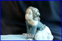 Lladro Figurine Seesaw or Swing #4867 Boy & Girl with Dog Seesaw