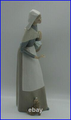 Lladro Figurine Shepherdess with Dog 1034 Made in Spain 1980