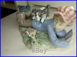 Lladro Figurine Study Buddlie 5451 1987 Porcelain'Boy with a dog' NO RESERVE