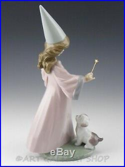 Lladro Figurine UNDER MY SPELL WIZARD GIRL With WAND & DOG #6170 Retired Mint Box