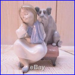 Lladro Figurine We Can't Play Girl/Dog #5706 comes with Box