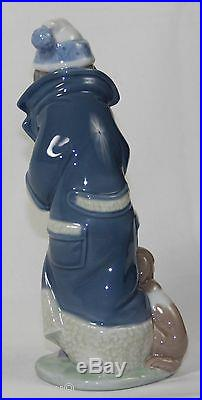 Lladro Friday's Child #6019 Figurine Boy With Puppy Dogs Perfect