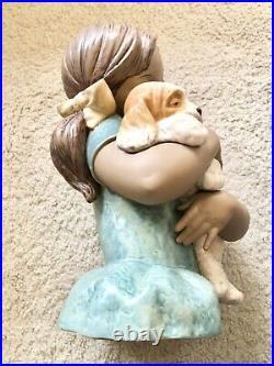 Lladro Gabriela 2355 Girl Hugging Dog Large Estate Sale
