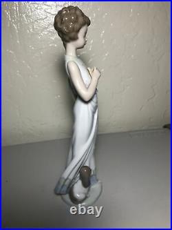 Lladro Garden Classic Strolling Girl and Dog Figurine, 7617 retired