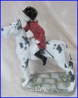 Lladro Giddy Up Doggy Girl Porcelain Figurine Brand Nib #8523 Cute Bargain F/sh