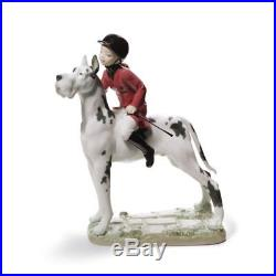 Lladro Giddy up Doggy Girl Figurine 01008523