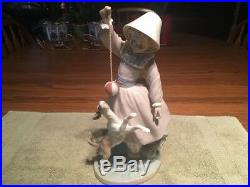 Lladro Girl Playing With Dog # 5078