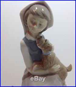 Lladro Girl With Lantern (and dog) #4910