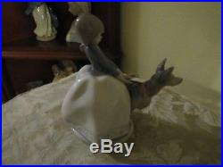 Lladro, Girl with dog #1533, Not so Fast 8 1/8 tall fast shipping