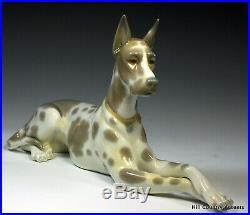 Lladro Great Dane #1068 Dog Resting $720 Value Retired'89 No Box
