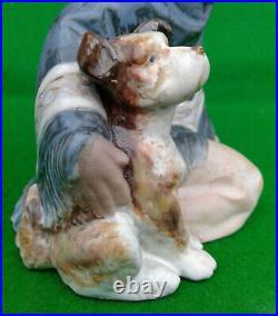 Lladro Gres Fernando (mexican Boy Kneeling With Dog) 2167