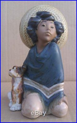 Lladro Gres Figurine Fernando 2167. (boy With His Dog)