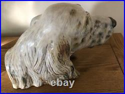 Lladro Gres Setters Head. 12045. Rare piece. Large