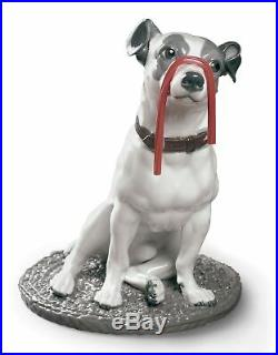 Lladro Jack Russell with Licorice Dog Figurine 01009192