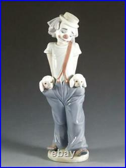 Lladro LITTLE PALS #7600 Clown with Dogs Collectors Society 1985 FIRST ISSUE